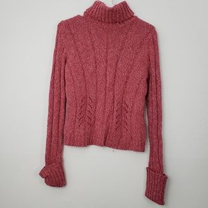 Express Turtle Neck Chunky Long Sleeve Sweater
